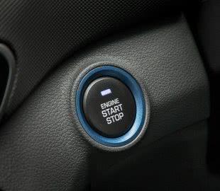 Кнопка запуска и остановки двигателя